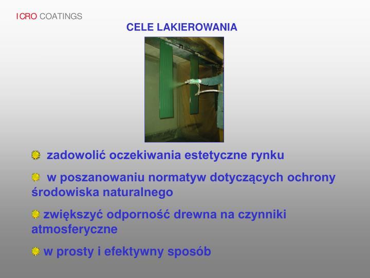 CELE LAKIEROWANIA