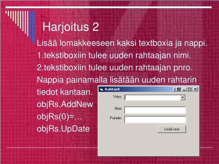 Harjoitus 2