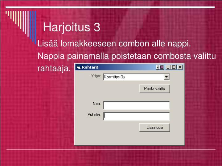 Harjoitus 3