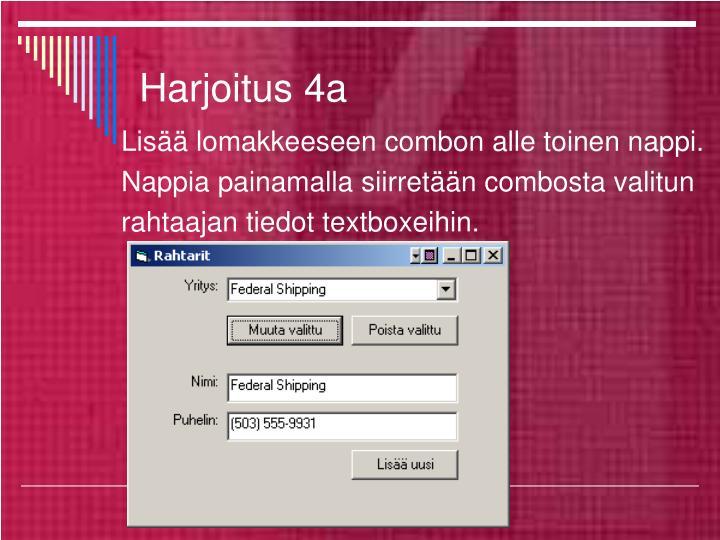 Harjoitus 4a