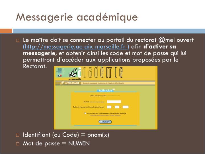Messagerie académique