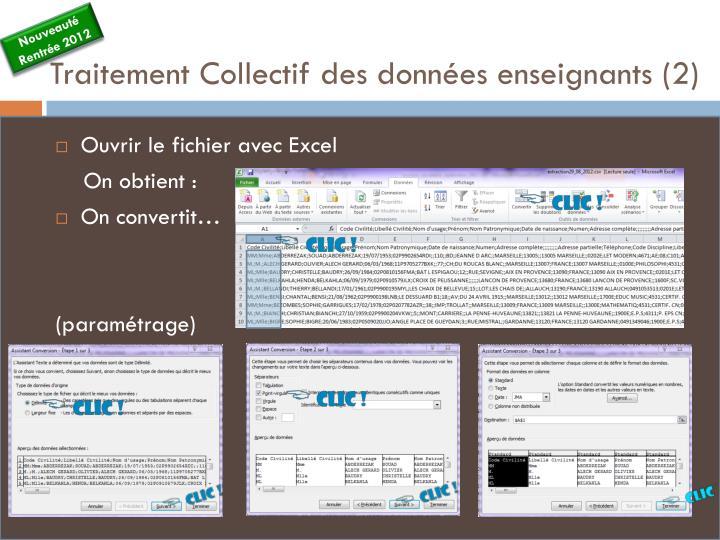 Traitement Collectif des données enseignants