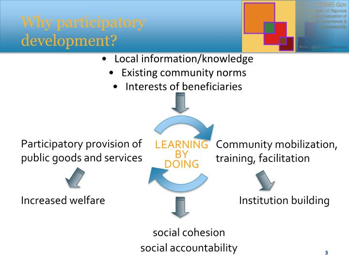 Why participatory development