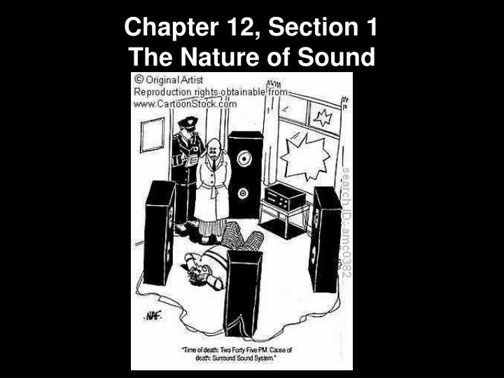 Chapter 12, Section 1