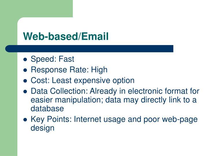 Web-based/Email