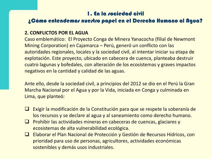 1. En la sociedad civil