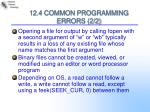 12 4 common programming errors 2 2