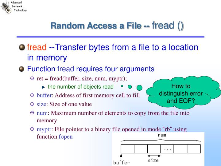 Random Access a File --