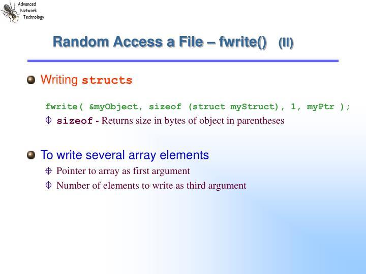 Random Access a File