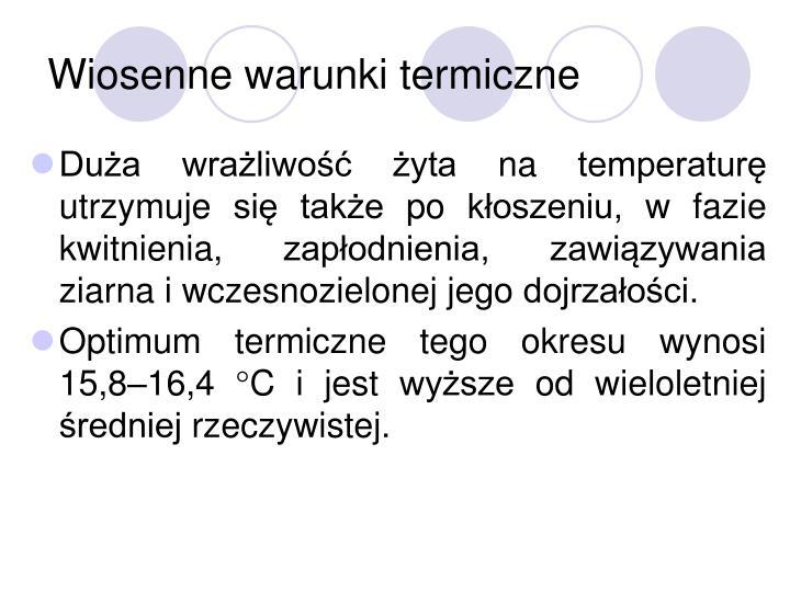 Wiosenne warunki termiczne