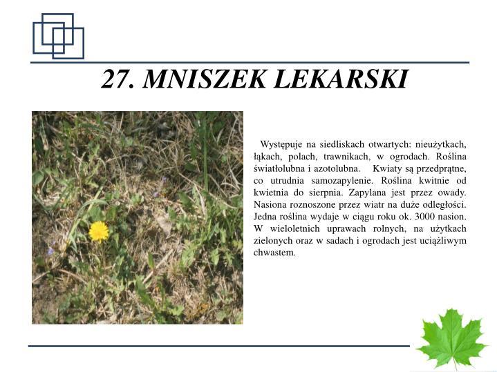 27. MNISZEK LEKARSKI