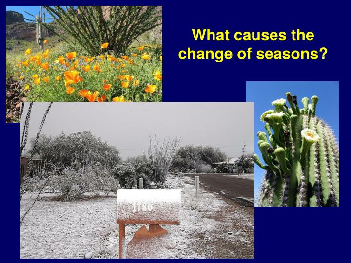 What causes the change of seasons?
