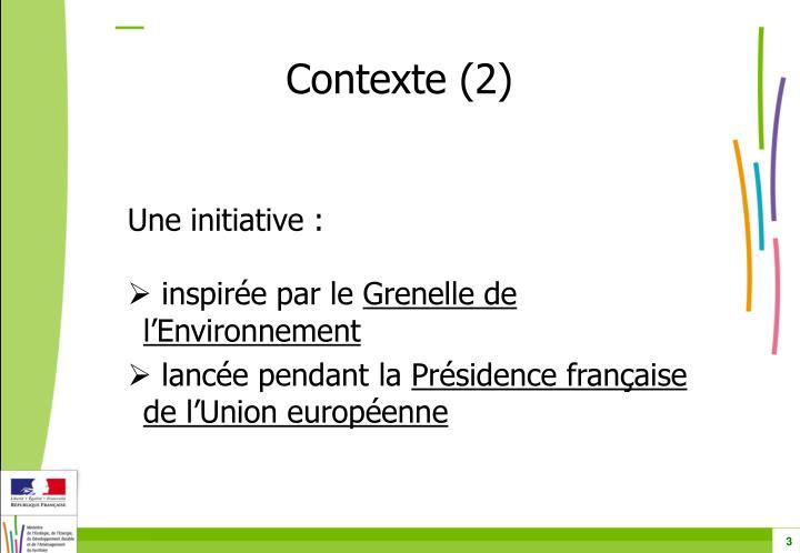 Contexte (2)
