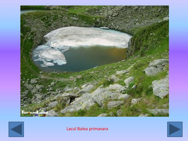 Lacul Balea primavara