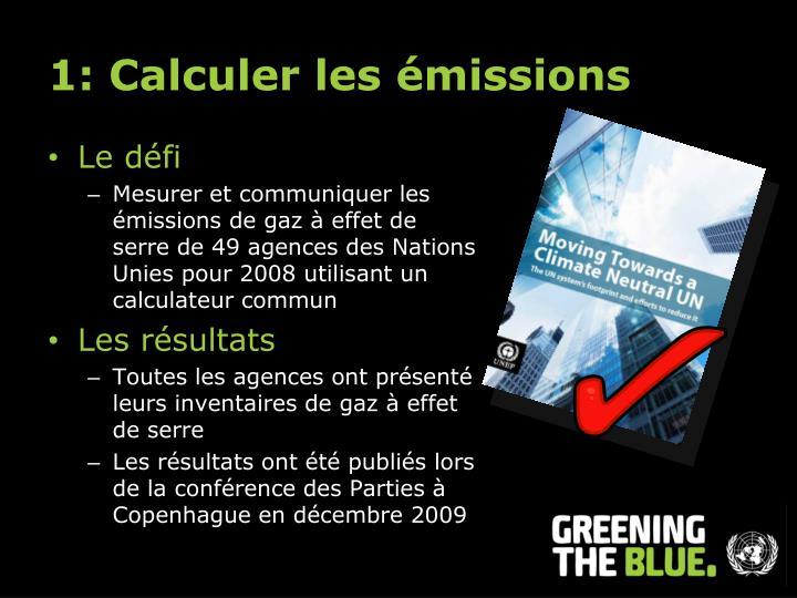 1: Calculer les émissions
