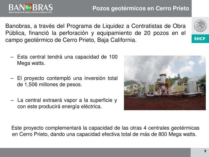 Pozos geotérmicos en Cerro Prieto