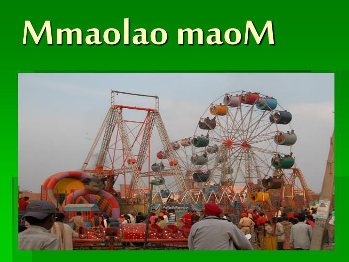 Mmaolao maoM
