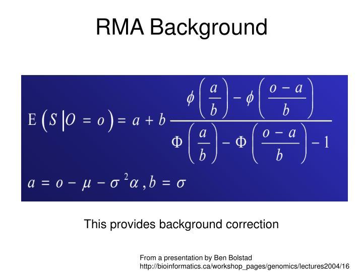 RMA Background