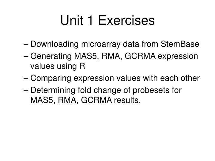 Unit 1 Exercises