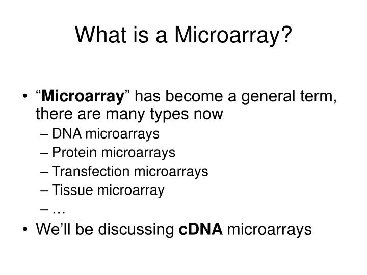 What is a microarray