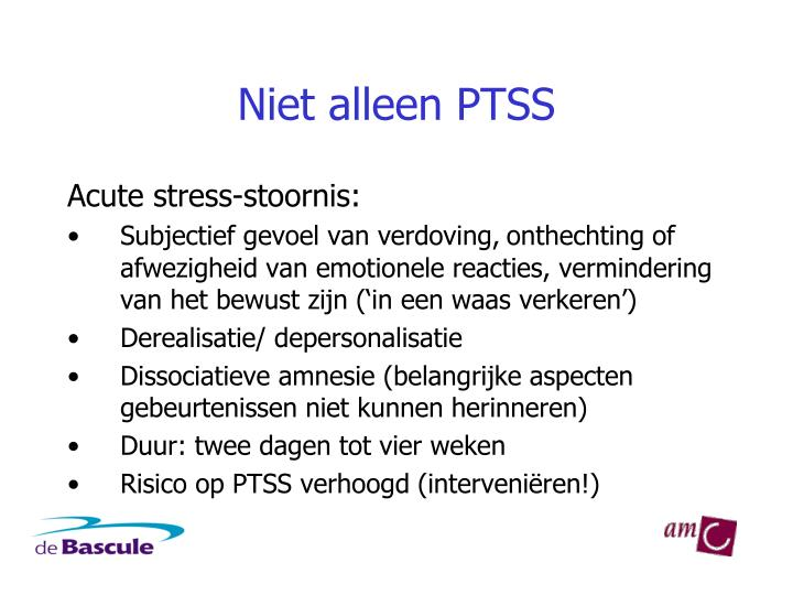 Niet alleen PTSS