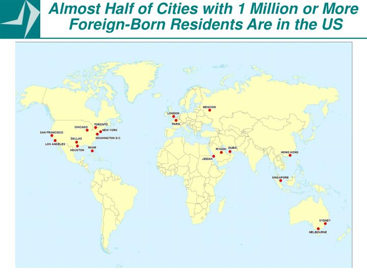 Almost Half of Cities with 1 Million or More