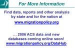find data reports and other analysis by state and for the nation at