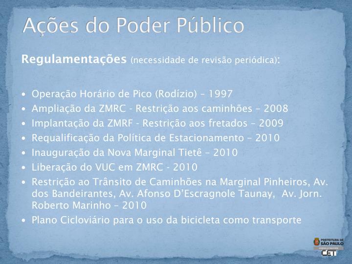 Ações do Poder Público