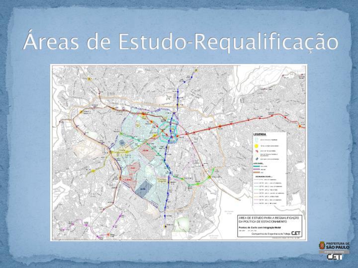 Áreas de Estudo-Requalificação