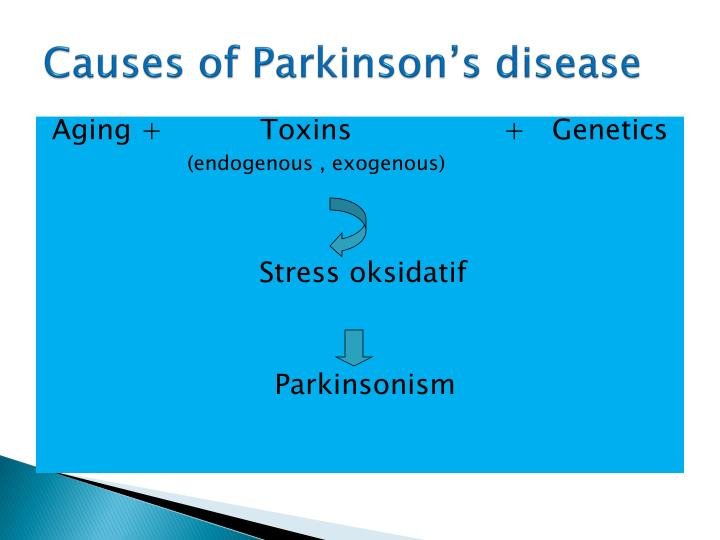 Causes of Parkinson's disease