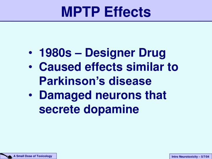 MPTP Effects
