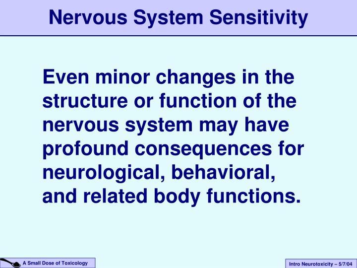 Nervous System Sensitivity