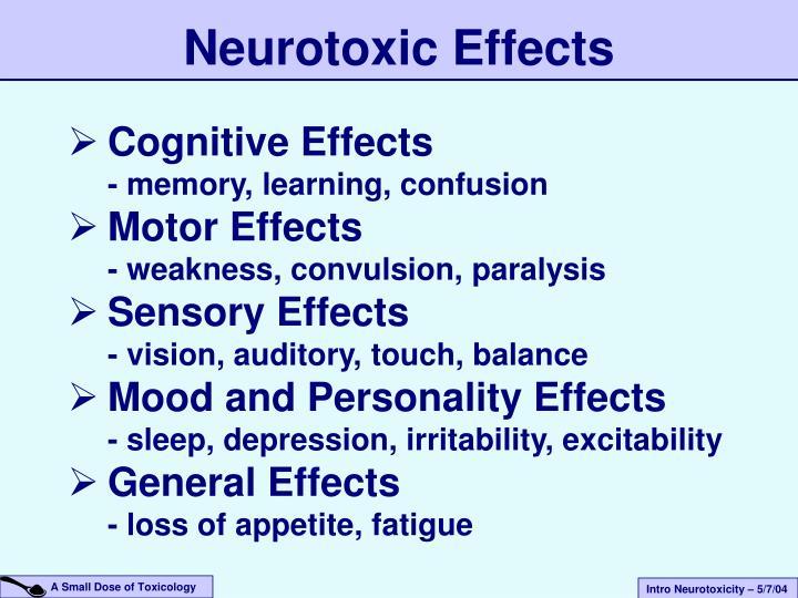 Neurotoxic Effects