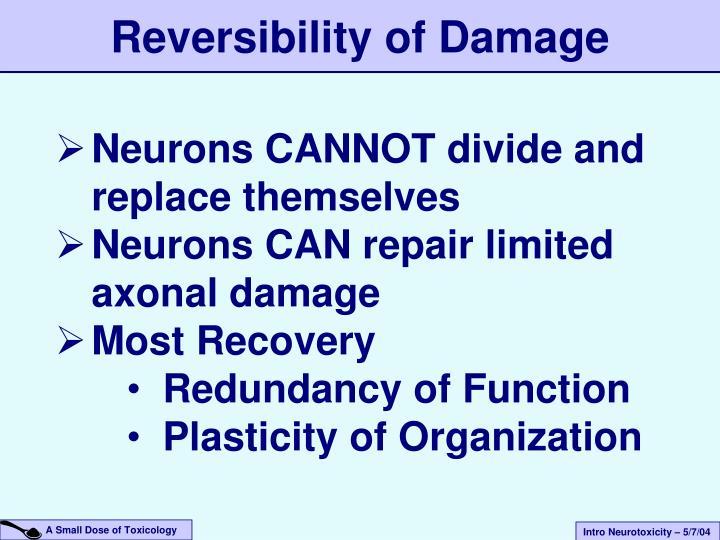 Reversibility of Damage