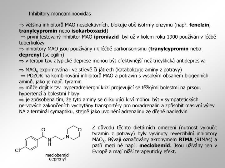 Inhibitory monoaminooxidas