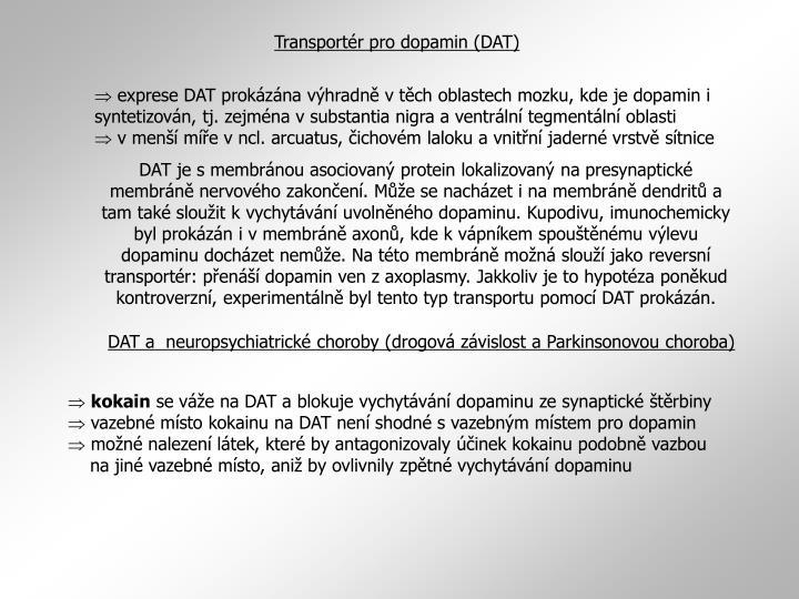 Transportér pro dopamin (DAT)