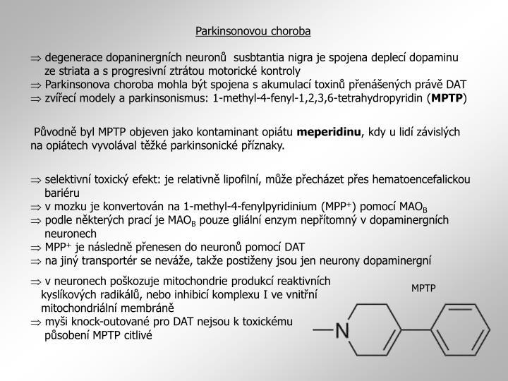 Parkinsonovou choroba