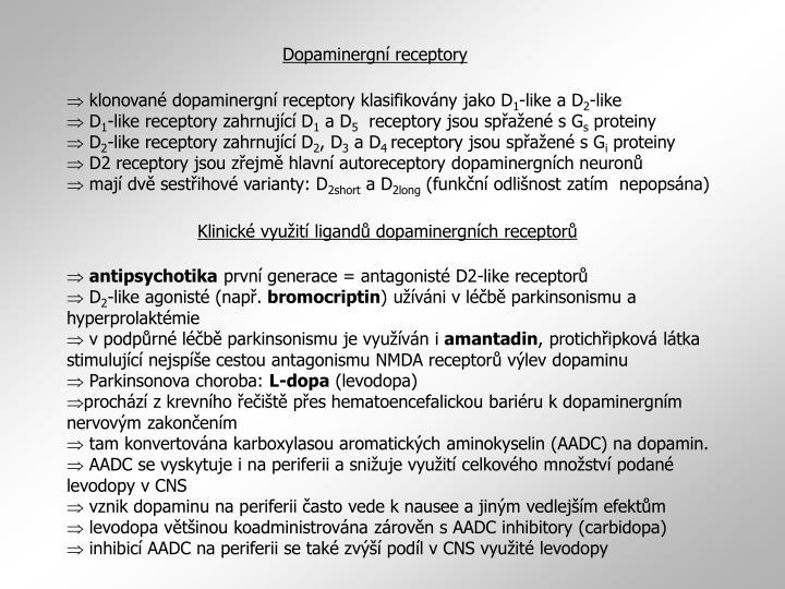 Dopaminergní receptory