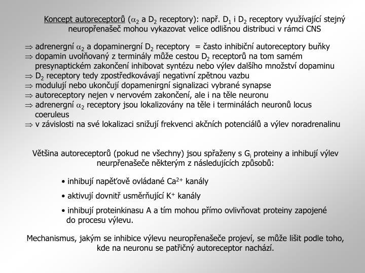 Koncept autoreceptorů