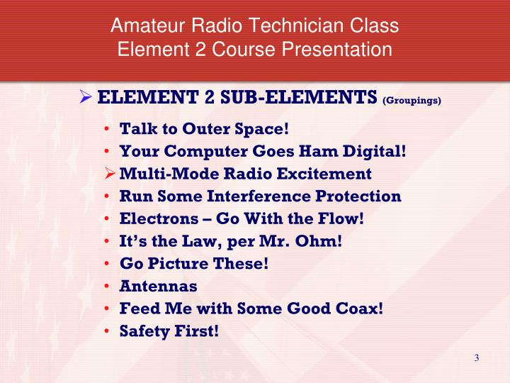 Amateur radio technician class element 2 course presentation1