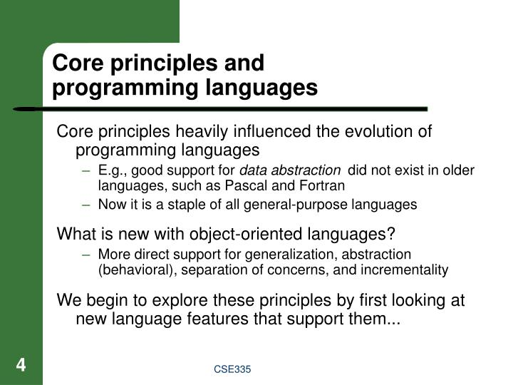 Core principles and