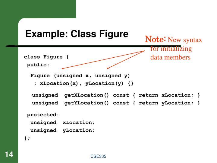 Example: Class Figure