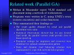 related work parallel ga