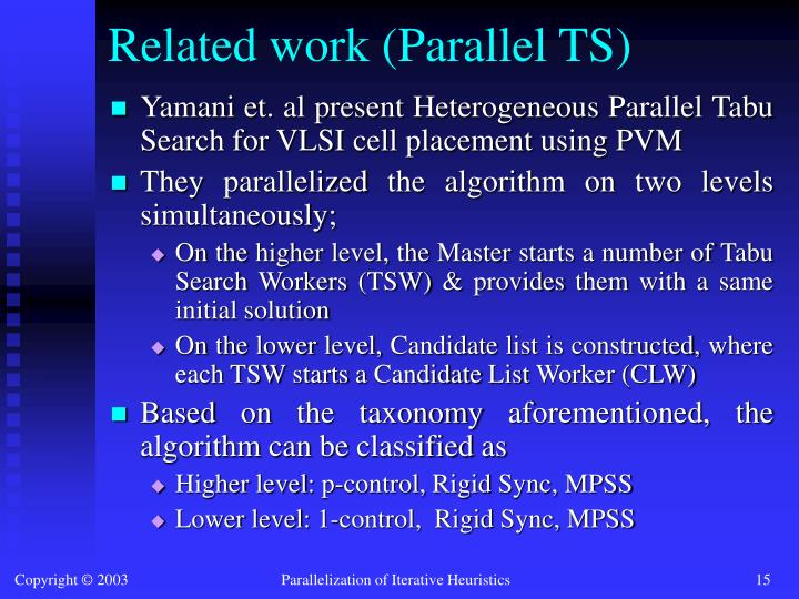 Related work (Parallel TS)