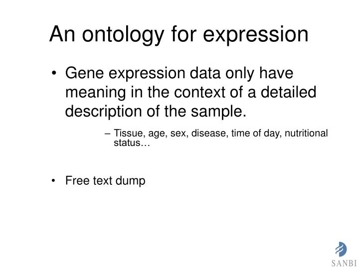 An ontology for expression