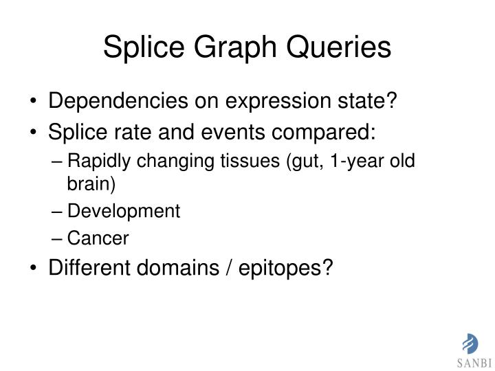 Splice Graph Queries