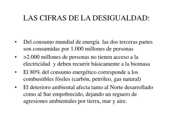 LAS CIFRAS DE LA DESIGUALDAD: