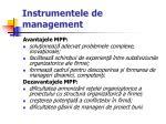 instrumentele de management18