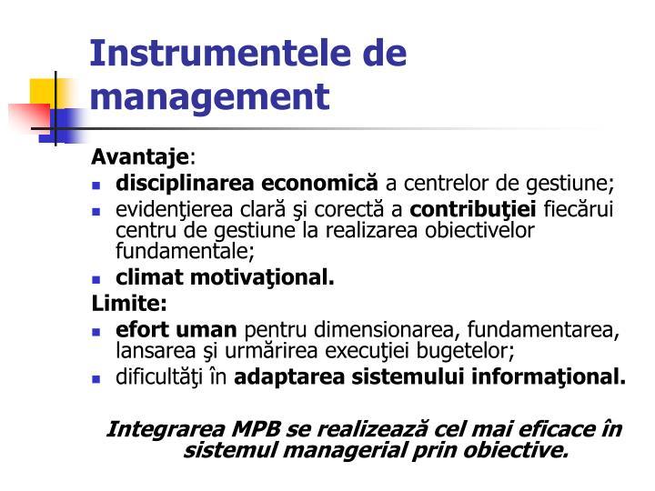 Instrumentele de
