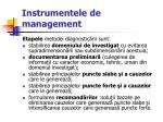 instrumentele de management39